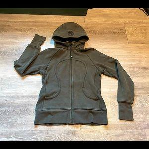 lululemon - Scuba Hoodie - Vintage Green - Size 8